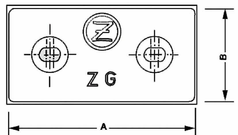 ZINC PLACA  1.3Kg.