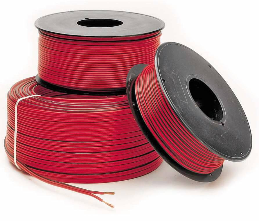 MTS. CABLE PARALELO 2x1mm. (100mts carrete)