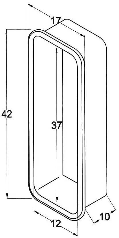CAJON  42x17mm.